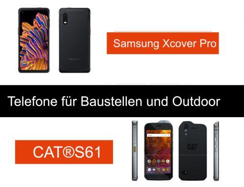 2 neue Telefone für Baustellen und Outdoor